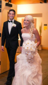 """Stephanie, celebrating not only her 40 pound transformation but marrying the love of her life Justin. """"At 128 pounds now; I'm healthy, happy, and celebrating life!"""""""
